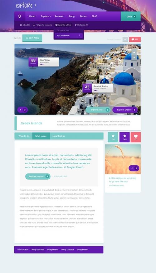 Броский и креативный PSD-шаблон для сайта