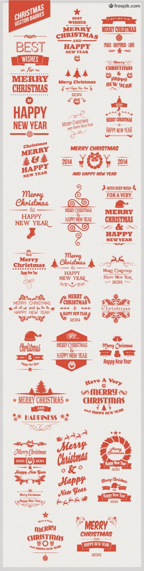 Скачать бесплатно: 30 векторных значков рождественской тематики