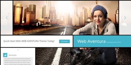 PSD-файл домашней страницы «Web Aventura»