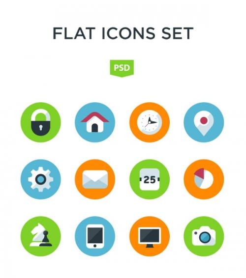 Комплект плоских иконок