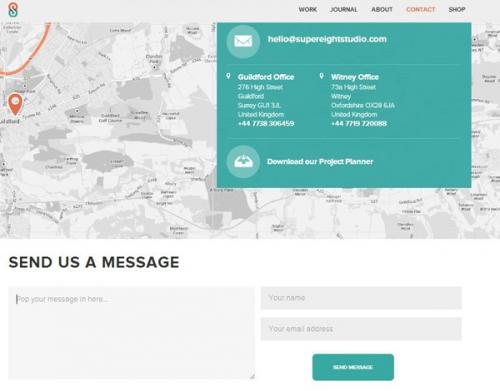 Подборка креативных дизайнов страниц Contact Us
