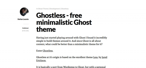 20 бесплатных шаблонов для Ghost
