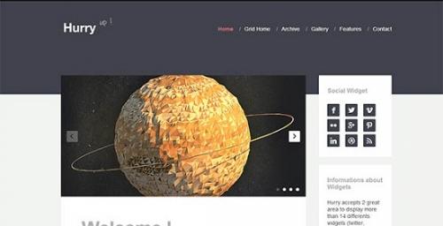 30 современных плоских Wordpress-шаблонов для профессиональных блогов (Платное)