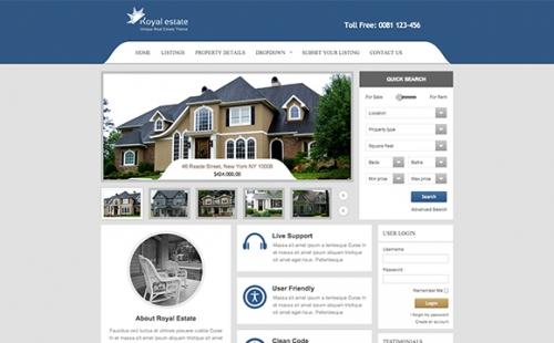26 шаблонов для сайтов по торговле недвижимостью (Платное)