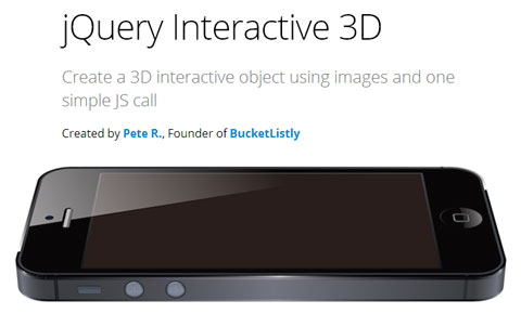 jQuery Interactive 3D: представление объектов на трехмерном интерфейсе