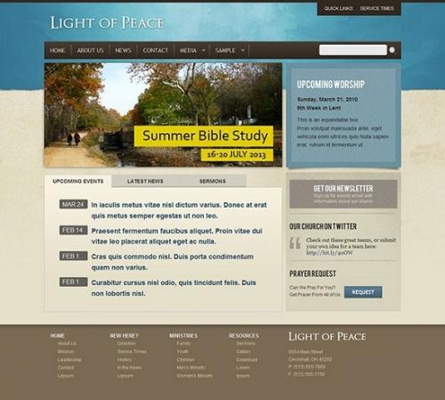 Более 15 воодушевляющих Wordpress-шаблонов церковной тематики (Платное)