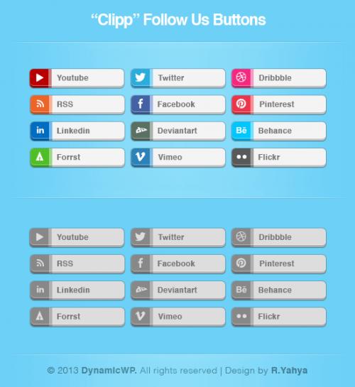 Бесплатности: Clipp – набор кнопок Follow