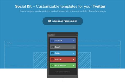 Social Kit – бесплатный Photoshop-плагин проектирования социально-сетевых профилей и страниц