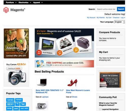 Высококачественные и адаптивные шаблоны для Magento