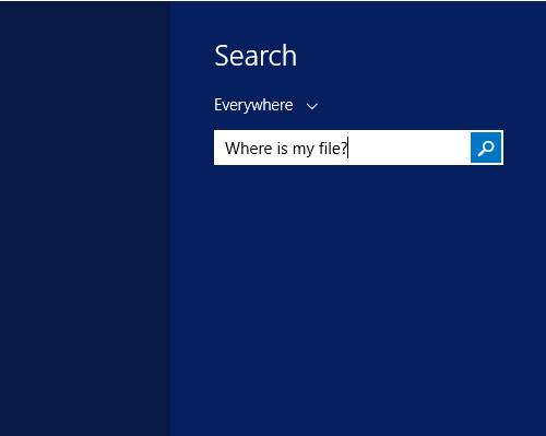 Индексация файлов для поиска в Windows 8.1
