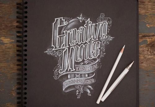 20 отличных примеров набросков со шрифтовой графикой дизайнерам на заметку