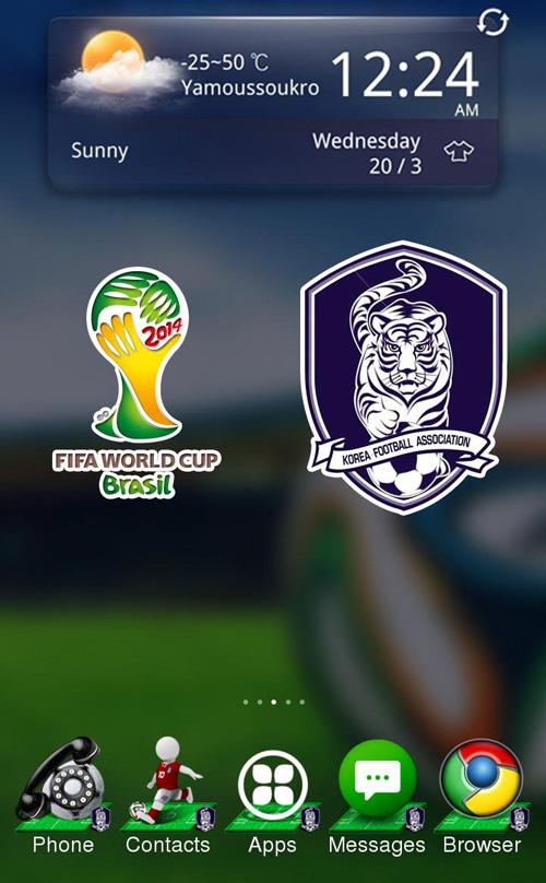 15 тем оформления Android на тему FIFA World Cup 2014