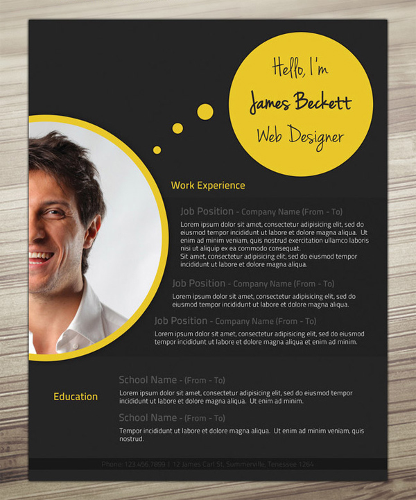 Examples of creative resumes