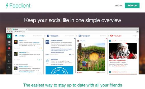 Соберите все социально-сетевые каналы вместе с помощью Feedient