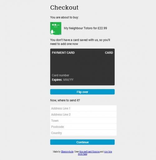 7 бесплатных HTML5- и CSS3-форм оплаты покупок