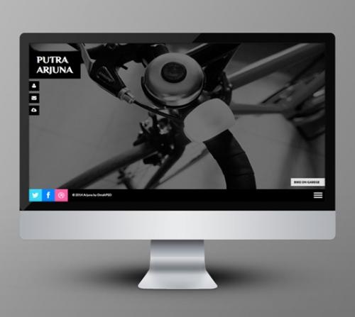 Arjuna - полноэкранный адаптивный HTML-шаблон фото-страницы