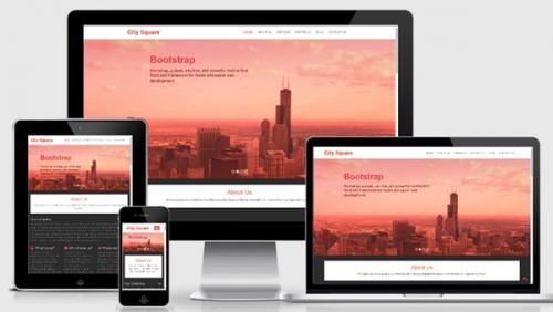 Скачать бесплатно: City Square – адаптивный шаблон на базе Bootstrap