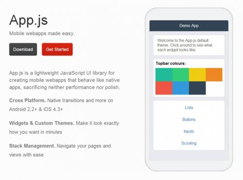 App.js: javascript-библиотека элементов интерфейса для мобильных приложений