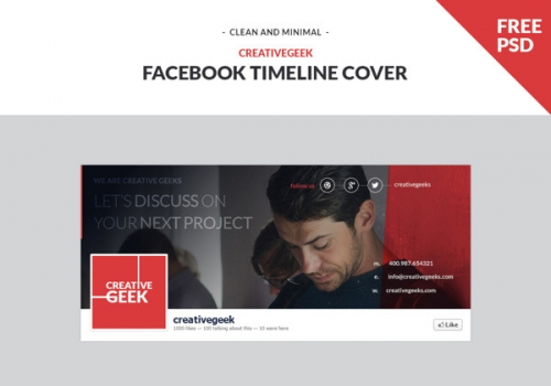 PSD шапки страницы хроники Facebook