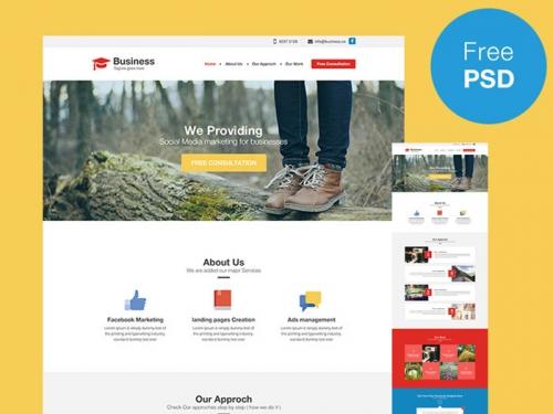 PSD-шаблон для сайта креативного агентства