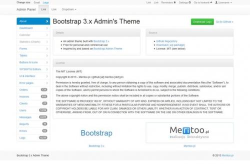 14 бесплатных админ-панелей на Bootstrap
