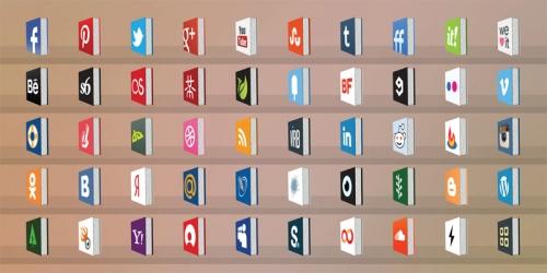50 бесплатных креативных иконок для социальных сетей в виде книг
