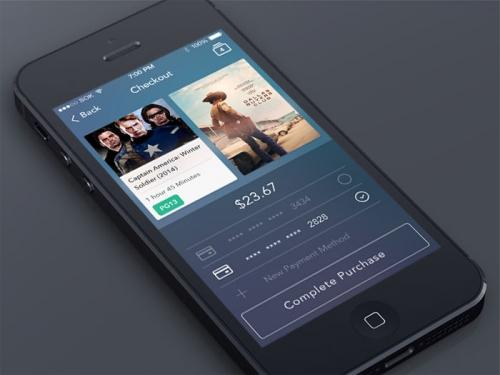 Страница проведения оплаты для мобильного приложения (PSD-шаблон)