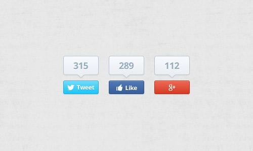 25 бесплатных PSD-заготовок Facebook-кнопок «Like»