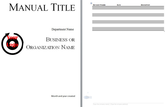 Training Manual Template Word - In Catalog Files