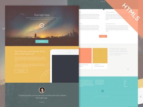 Starnight: бесплатный адаптивный HTML5/CSS3-шаблон для сайта