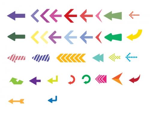 Бесплатный набор векторных стрелок