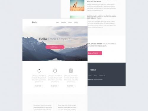 Bella: бесплатный современный PSD и HTML-шаблон email-сообщения