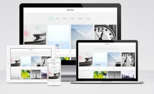 Portfolio: Бесплатный простой WordPress-шаблон для дизайнеров
