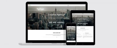 Hydrogen – Бесплатный адаптивный одностраничный HTML5-шаблон