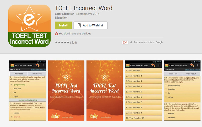 toefl most common words When you order the toefl flashcards study system, you'll get our set of flashcards specially selected to give you the most toefl performance improvement for the least time this is just a small sampling of the topics covered.